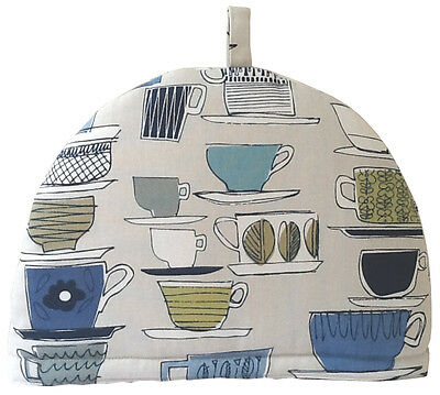 Teapot Cosy- Large - Cups & Saucers -Porcelain, 100% cotton, insulated, washable