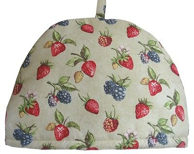 Teapot Cosy- Large -Very Berry, 100% cotton, insulated, washable