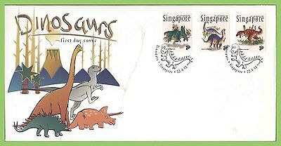 Singapore 1998 Dinosaurs set on First Day Cover