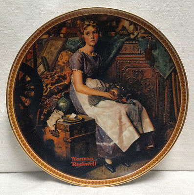 Norman Rockwell DREAMING IN THE ATTIC Collector Plate Rediscovered Women