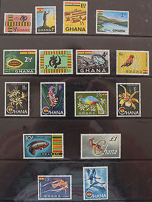 Ghana 1959-1961 8 MNH Definative Set SG213-225a + Air SG226-227