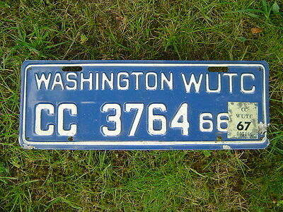 1966-1967 Washington State WUTC license plate