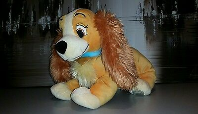 """Disney Store exclusive Lady And The Tramp Lady Plush Soft Toy 13"""" X 10"""""""