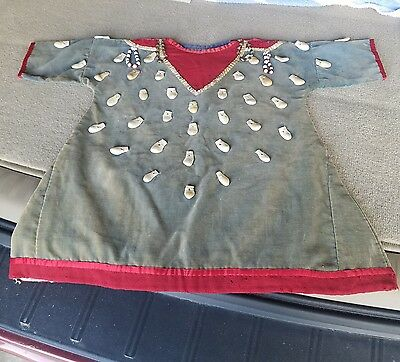 AUTHENTIC 1800s Crow Indian dress made with elk teeth relic artifact