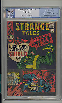 Strange Tales #135 PGX 7.5 VF- Unrestored Marvel 1st Nick Fury Agent of SHIELD