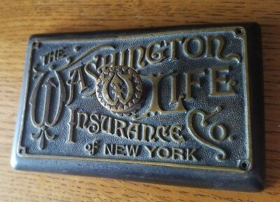Antique Wax Seal Stamp The Washington Life Insurance Co NY John Becker Boston