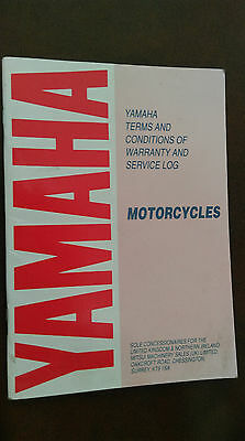 Yamaha warranty service book [dt125lc]