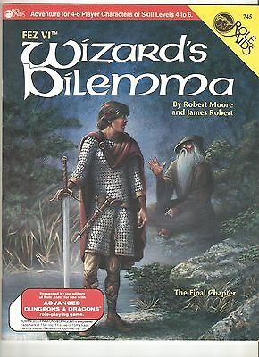 Fez VI: Wizard's Dilemma (1989, Mayfair Games - RoleAids AD&D adventure module)