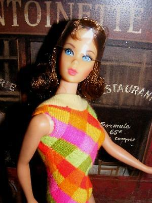 STUNNING Vintage BRUNETTE Marlo Flip Twist N & Turn TNT BARBIE DOLL Org Swimsuit