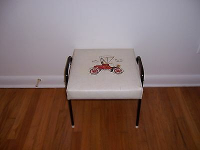 Vintage Nasco Ottoman Mid Century Oldsmobile Curved Dash Runabout Foot Stool