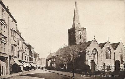 Old Postcard High Street & Church Tenby