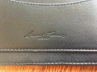 Stuart Kern Leather Checkbook Case Black