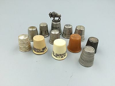 Lot Of 12 Vintage Thimbles