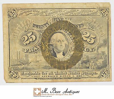 1863-1867 Twenty-Five Cents 2nd Issue Fractional Currency *721