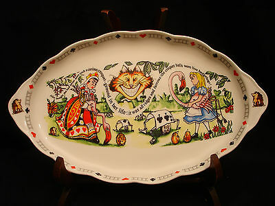 """Alice in Wonderland's Cafe by Cardew Design OVAL SWEET TRAY 12 5/8"""""""