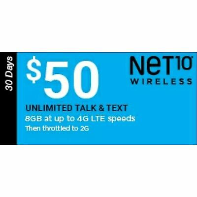 Net10 $50 5GB Monthly Plan Refill, FAST REFILL
