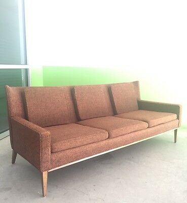 Paul Mccobb Directional Custom Craft Sofa Mid Century Danish Modern