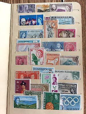 Vintage Lot of Scarce British Commonwealth & Territory Stamps Mostly Mint