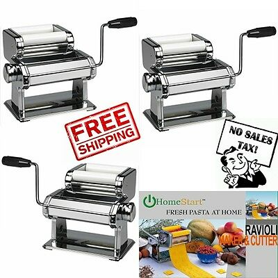 Ravioli Pasta Maker Machine Noodle Stainless Steel Spaghetti Roller Dough Cutter