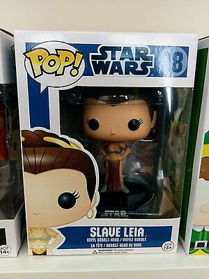 Funko POP! vinyl Star Wars: Slave Leia (blue box) RARE/VAULTED