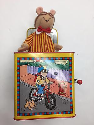 Schylling Kids Arthur PBS Marc Brown 1998 Plush Pop Up Jack in the Box Toy Mouse