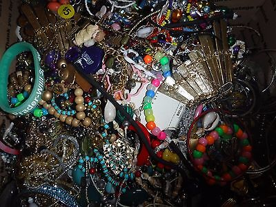 Craft Jewelry 20 Lbs Lot C 2 Grab bag Vintage & Cont. Various Craft Jewelry