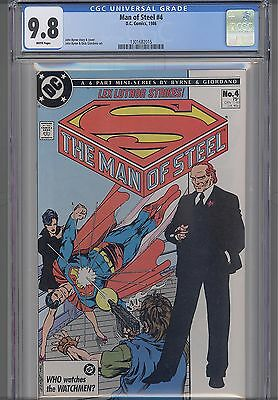 Man of Steel #4  CGC 9.8 1986 : Superman Comic :  Price Drop! NEW Frame