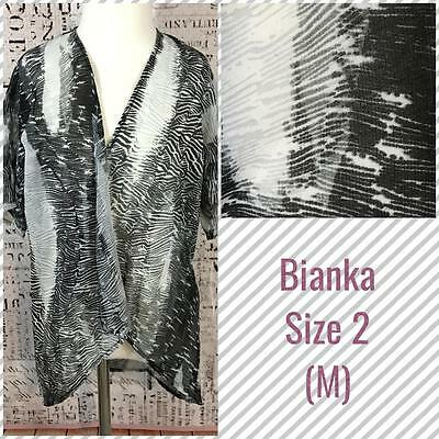 LuLaRoe Kids Bianka Kimono Size 2 Medium 6-10 Animal-Style Black White Print NWT