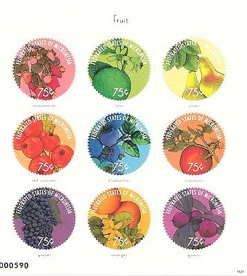 Micronesia - Fruit, 2014 - Sc 1091 Sheetlet of 9 MNH