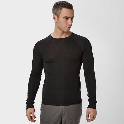 Peter Storm Mens Merino Crew Baselayer Outdoor Clothing Black
