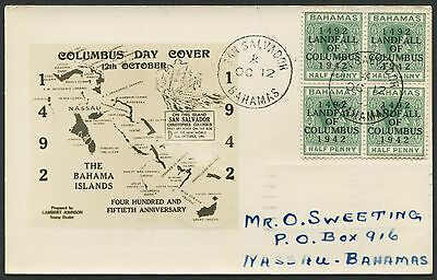 1942 San Salvador, Bahamas Columbus Day Maxi Cover