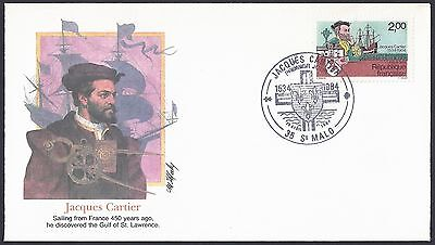 France FDC Scott #1923 Jacques Cartier's landing in Quebec, Canada