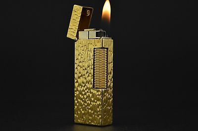 Dunhill Lighter Rollagas Serviced Working Vintage New O-rings Switzerland #317