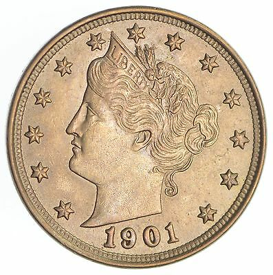 1901 Liberty V Nickel *SB90