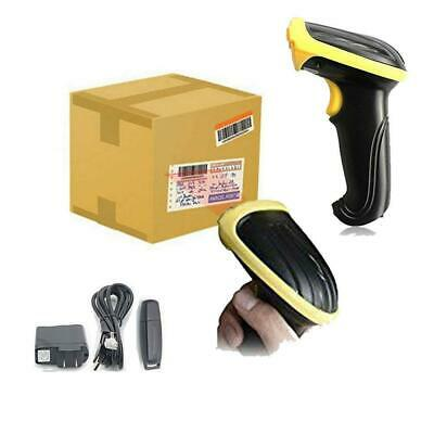 2.4G USB High Speed Wireless Laser Barcode Scanner Scan Gun Label Reader Label