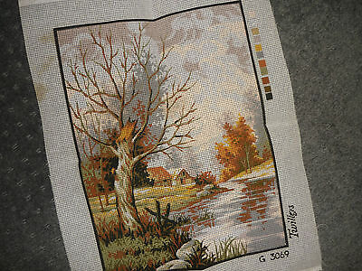 """Twilleys - """"country Scene"""" - Tapestry Canvas  - New"""