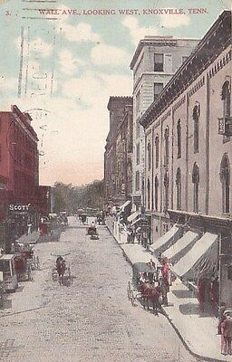 Knoxville Tennessee Wall Avenue Vintage Postcard