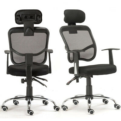 2X Ergonomic Mesh High Back Executive Computer Office Chair Black with Headrest