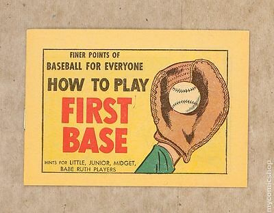 Finer Points of Baseball For Everyone: How to Play First Base #1964 VF+ 8.5