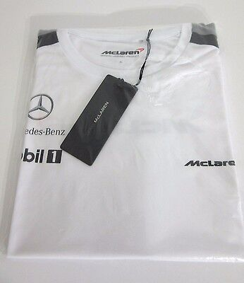 MENS McLAREN MERCEDES TEAM OFFICIAL TEAM TSHIRT FORMULA 1 SIZE XL R.R.P $60