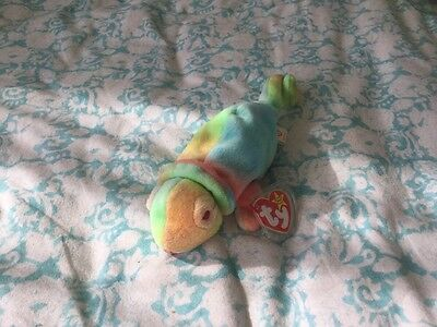 Ty Beanie Baby Rainbow the Chameleon new with tag