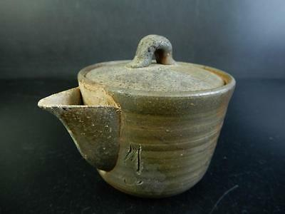H1162: Japanese Old Bizen-ware TEA POT Houhin Kyusu Sencha, Chikuzan made