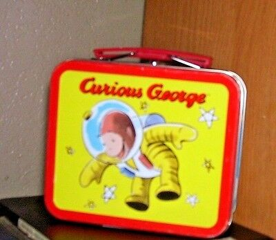 """Houghton Miffin~Curious George Monkey Lunch Box~5 1/2"""" Wide/4 1/2 Tall"""