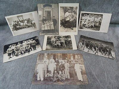Large group of RPPC Real Photo Post Cards c 1915 French Soldiers