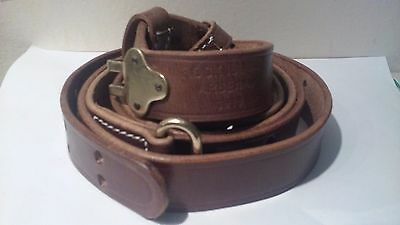 M1907 Premium Leather Sling  M1 Garand Springfield Drum Dyed Leather