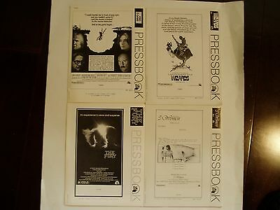 Four Vintage 1970's Movie Pressbooks - Wizards, The Fury, 3 Women & End Game
