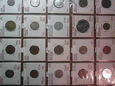 Bulk lot World Coins 20 coins in holders & Page wc117
