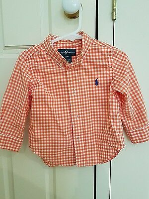 Ralph Lauren baby boys gingham shirt SO CUTE