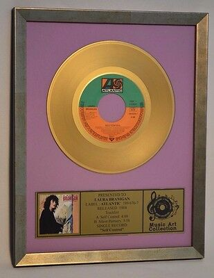 """LAURA BRANIGAN  picture frame  single 7"""" single  records  lot gold  collection"""