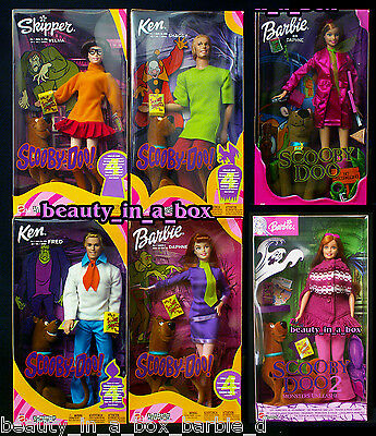 SCOOBY DOO Barbie Doll Daphne Velma Fred Shaggy Monsters Unleashed Lot 6 G ""